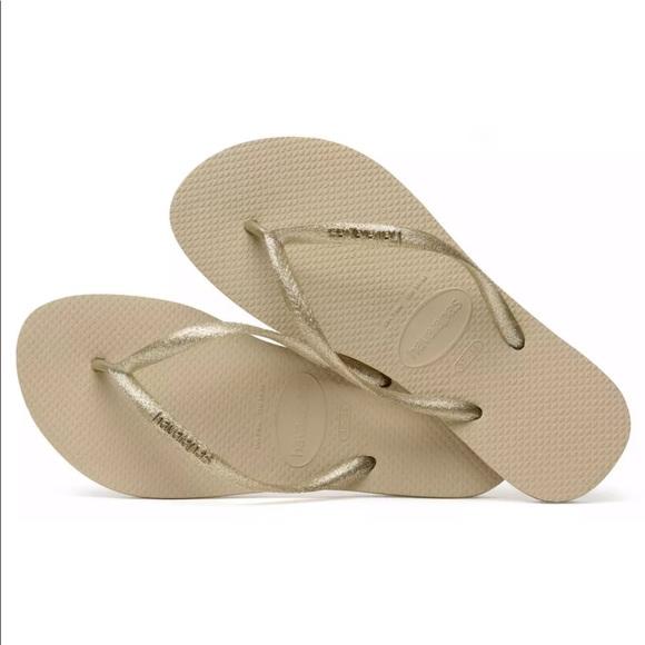 66e659126 Havaianas Womens Size 6 Gold Sand Flip Flop Sandal